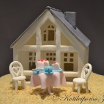 Island villa made out of fondant