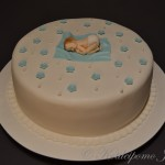 Christening cake for a baby boy