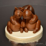 Fondant squirrel couple