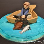 Fondant fisherman decoration